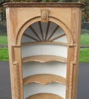 Georgian Style Tall Pine Open Corner Cupboard